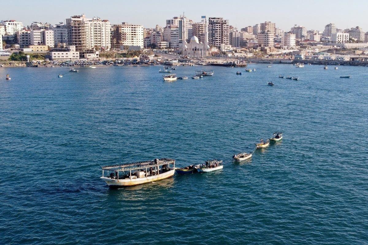 ساحل غزة على المتوسط