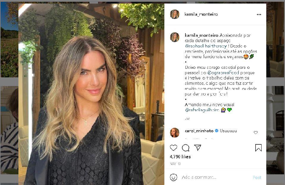 زوجته كاميلا مونتيرو في صورة من انستغرام