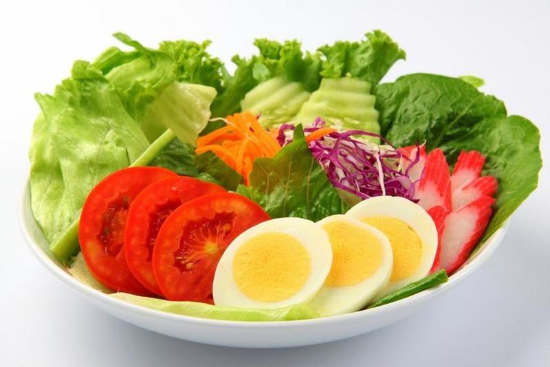 تناول الخضروات والبروتين