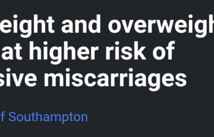 دراسة: معاناة النساء من النحافة أو السمنة يعرضهن للإجهاض المتكرر