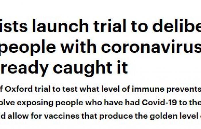 متطوعون يخضعون لتجربة الإصابة بكورونا لتحديد مستويات الاستجابة المناعية