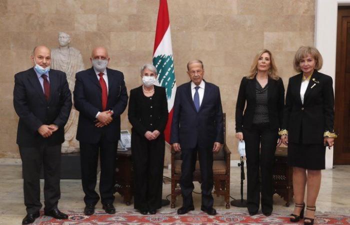التعاون الاقليمي بين عون ووفد الهيئة الوطنية