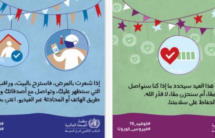 الصحة العالمية تقدم 13 نصيحة لتجنب الإصابة بعدوى كورونا خلال عيد الأضحى